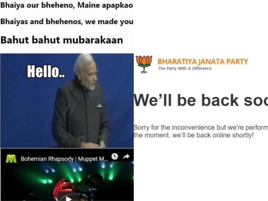 BJP website hacked image by Cyberops Infosec